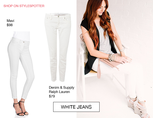 little j style white jeans